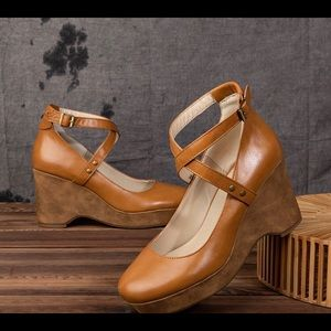 Shoes - Really cool Camel Strappy Boho Sandals. NEW!!